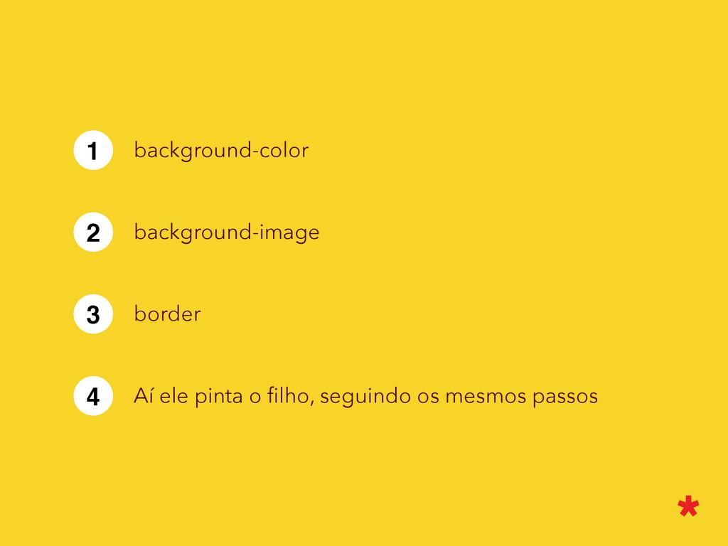 1 background-color 2 background-image 3 border ...