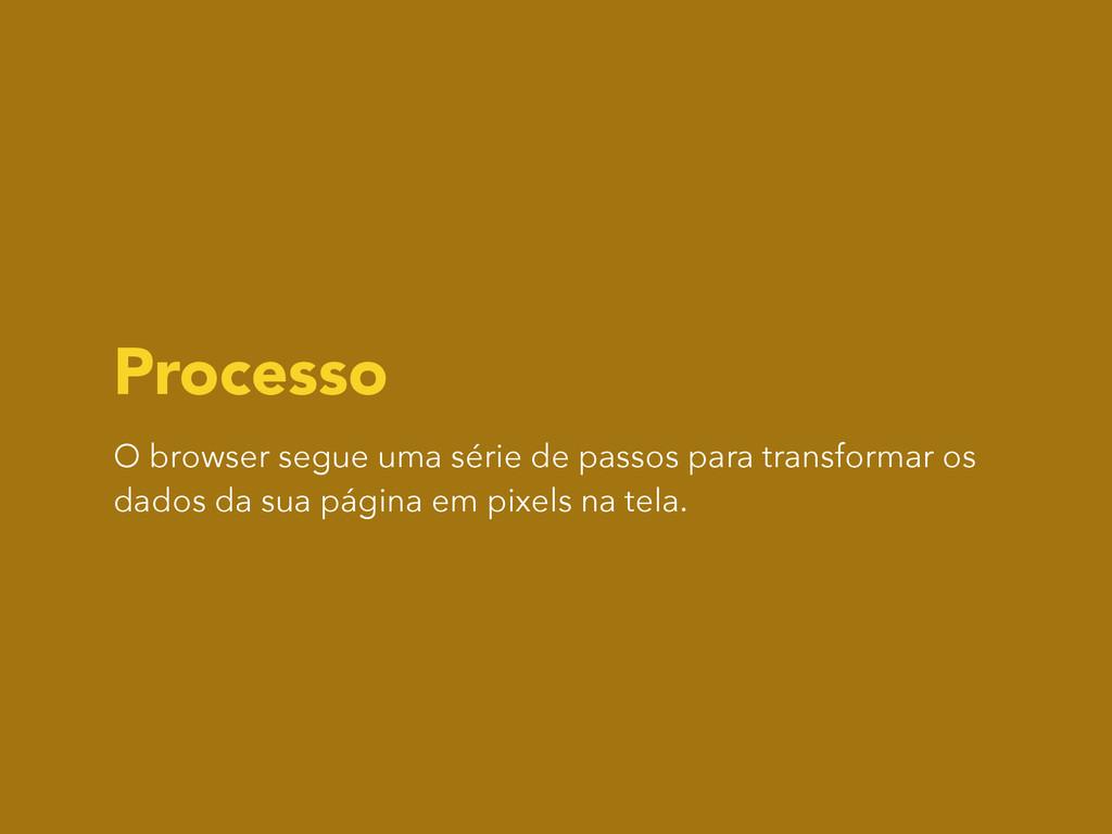 Processo O browser segue uma série de passos pa...