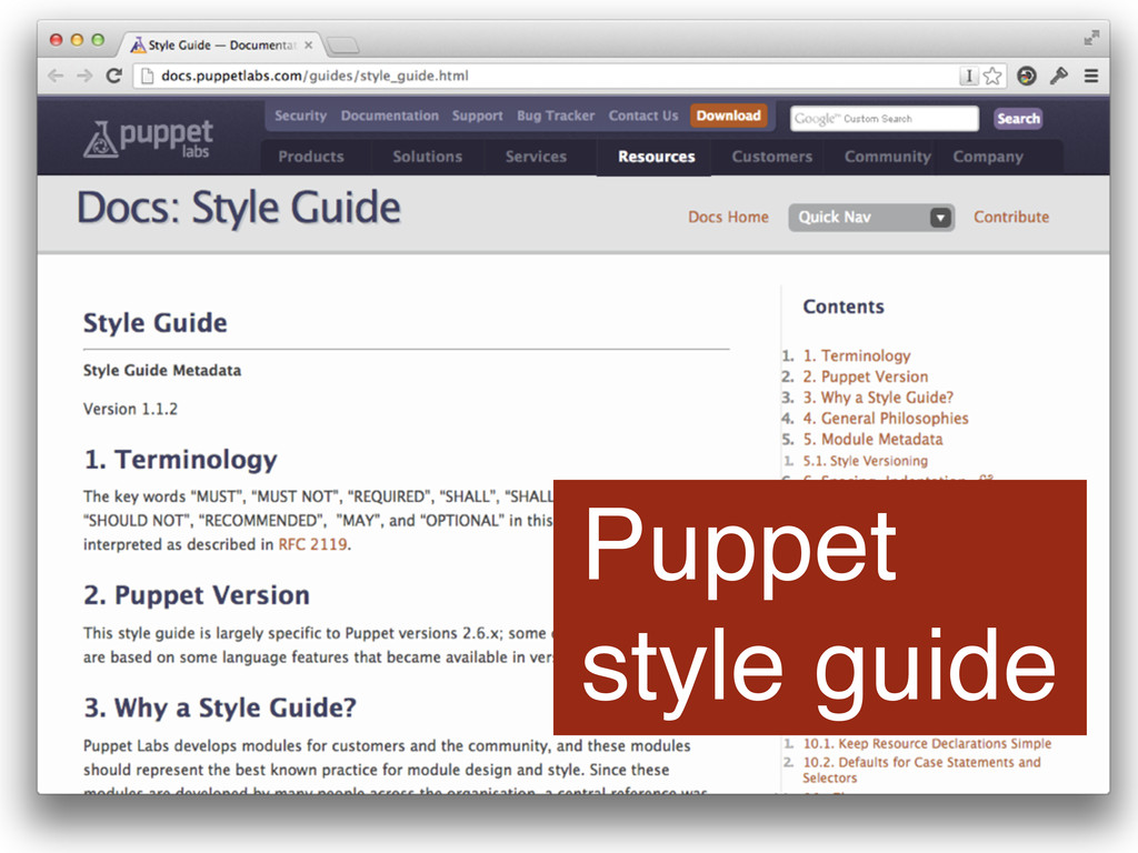 Puppet style guide