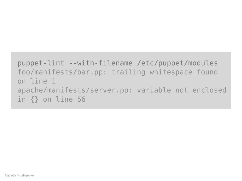 puppet-lint --with-filename /etc/puppet/modules...