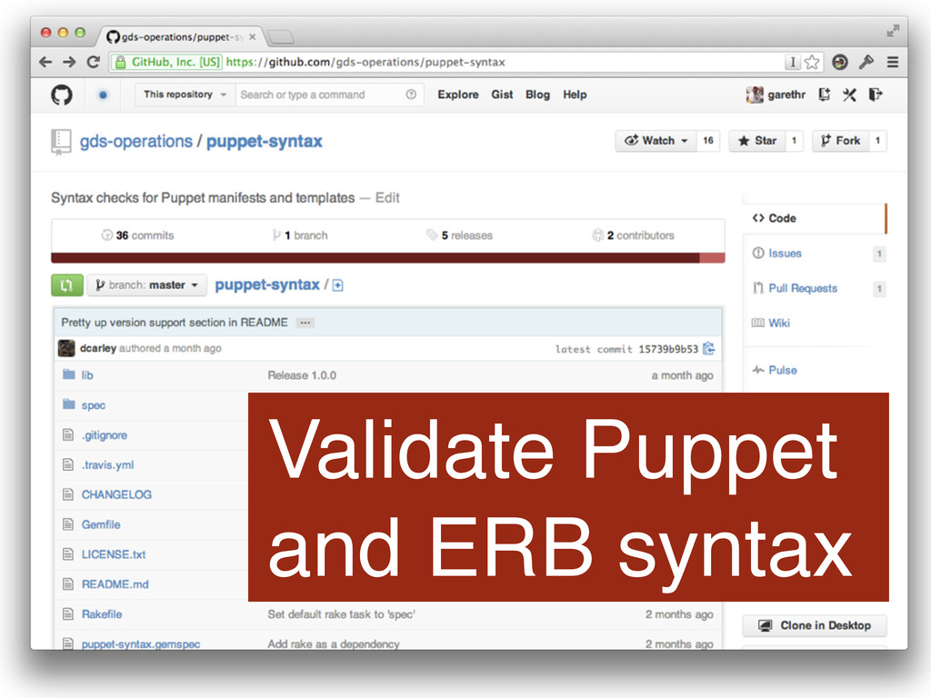 Validate Puppet and ERB syntax