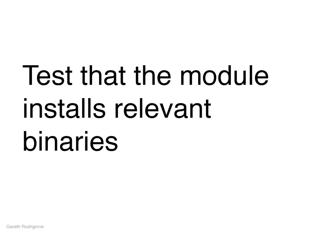 Test that the module installs relevant binaries...