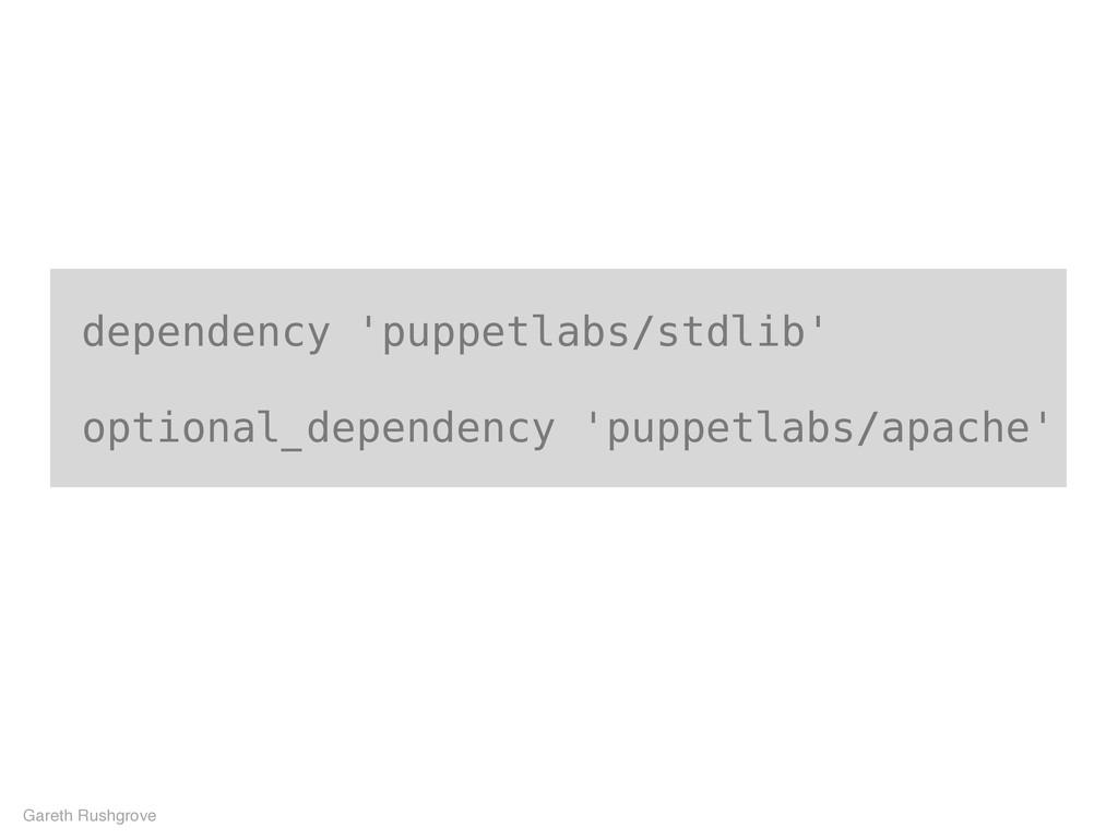 dependency 'puppetlabs/stdlib' optional_depende...