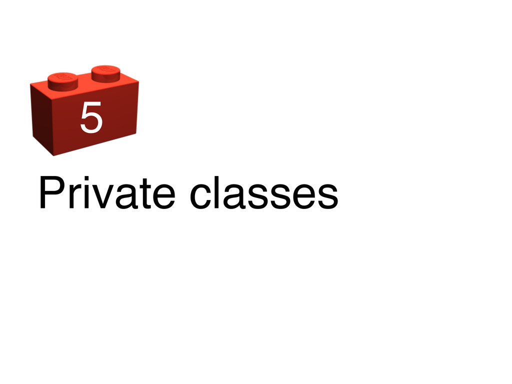 Private classes 5