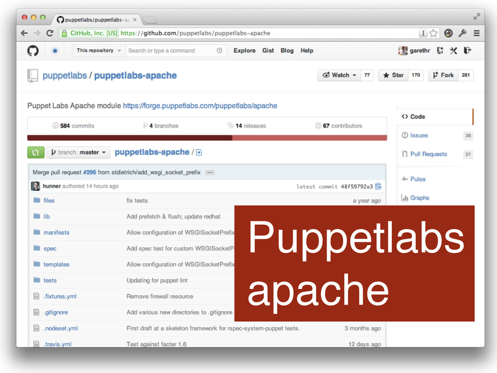 Puppetlabs apache