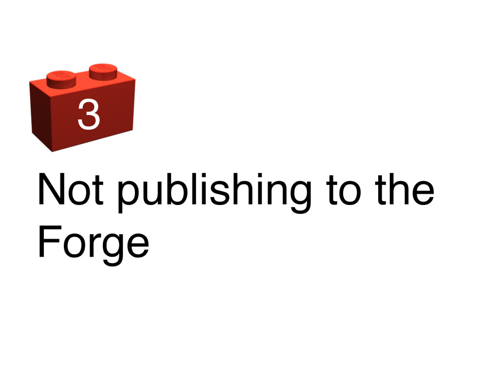 Not publishing to the Forge 3