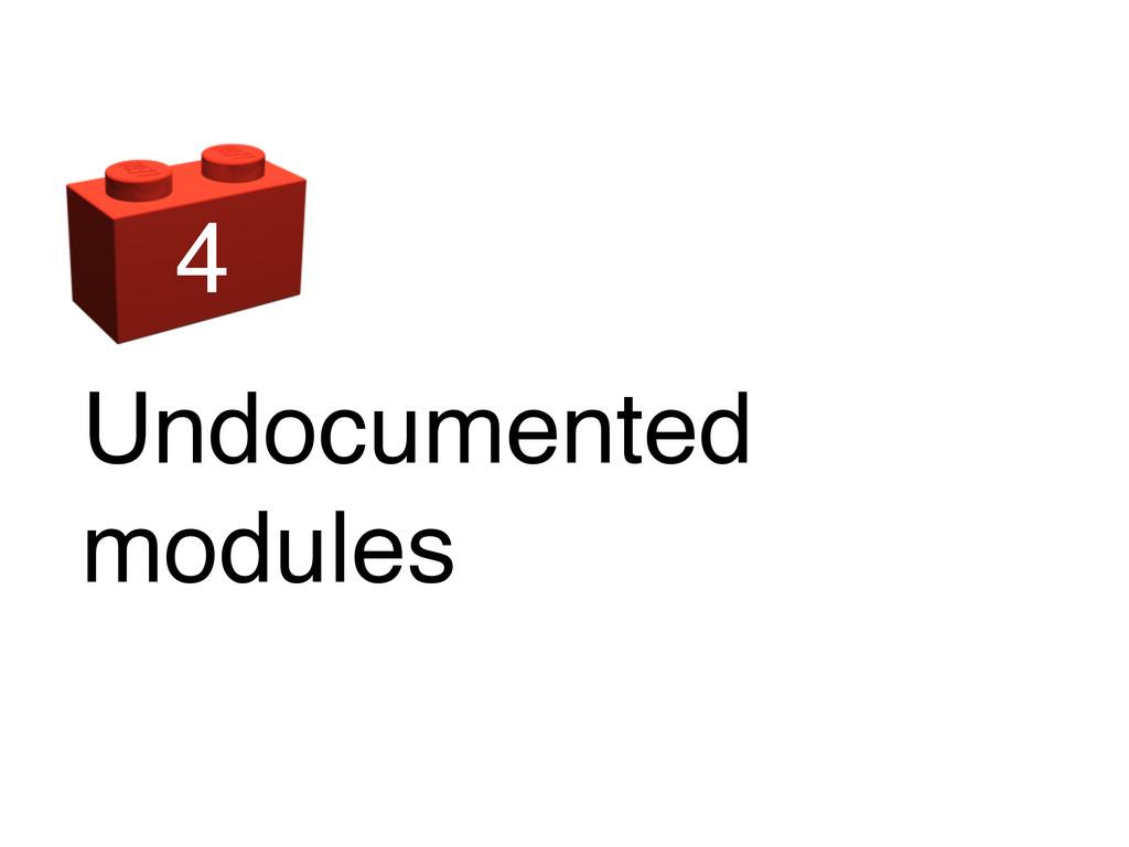 Undocumented modules 4