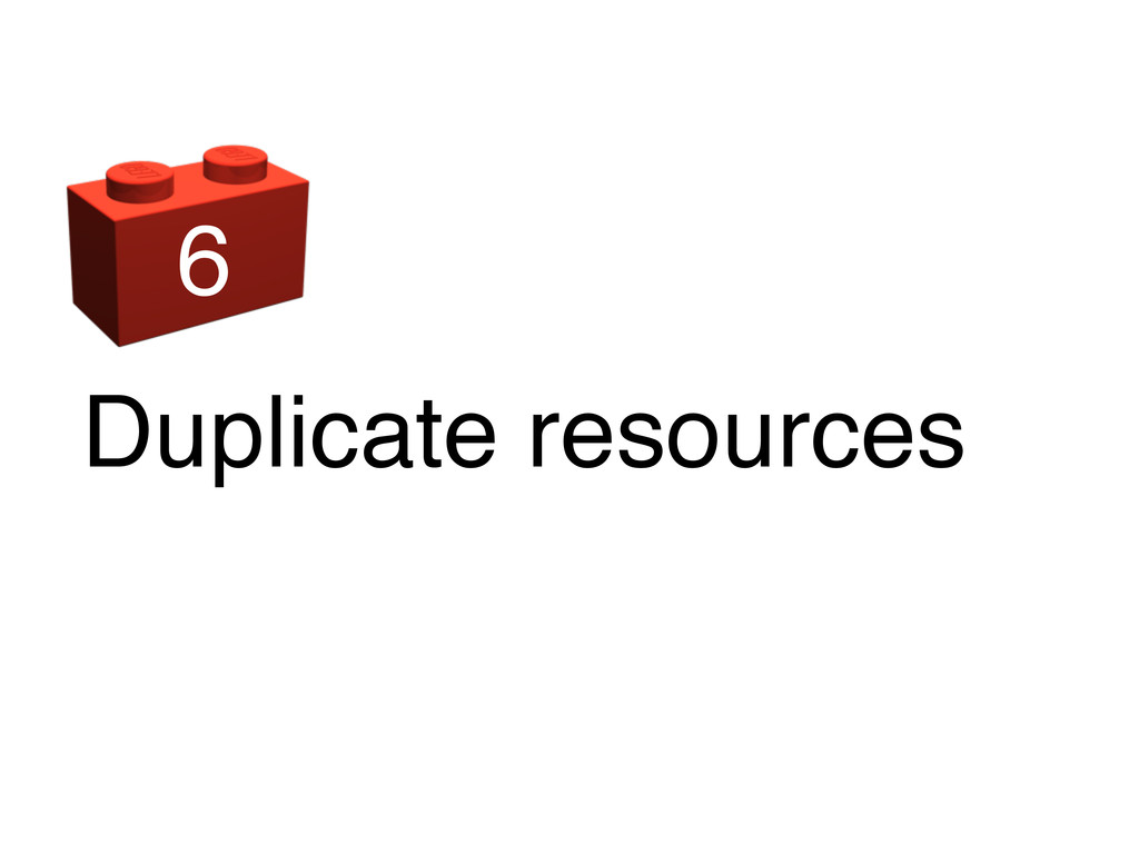 Duplicate resources 6