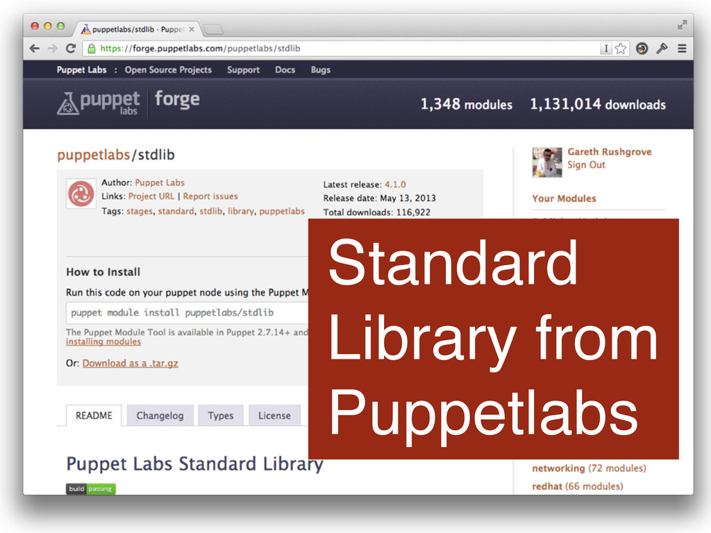Standard Library from Puppetlabs