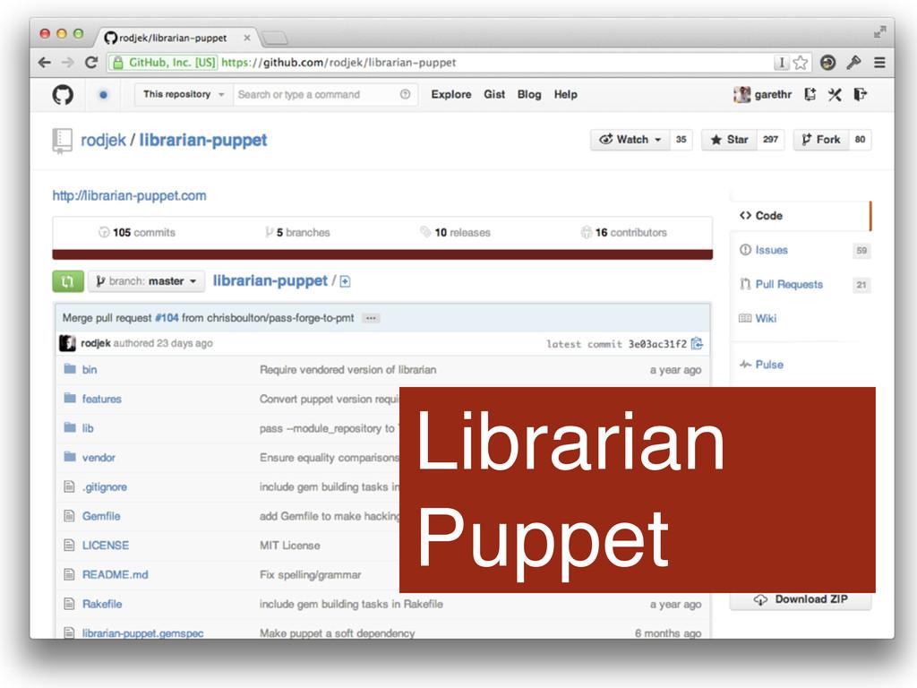 Librarian Puppet