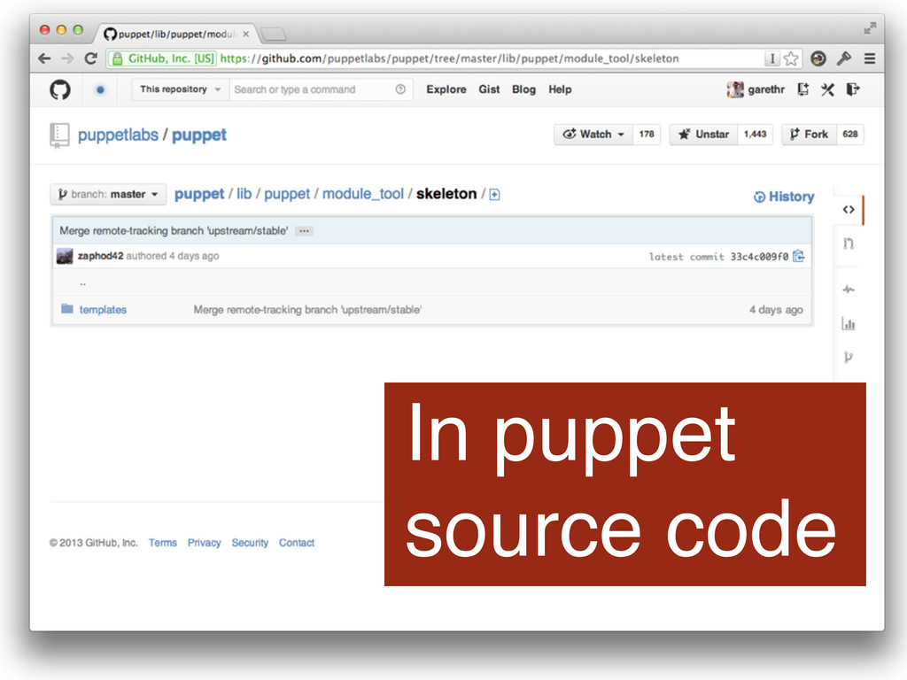 In puppet source code