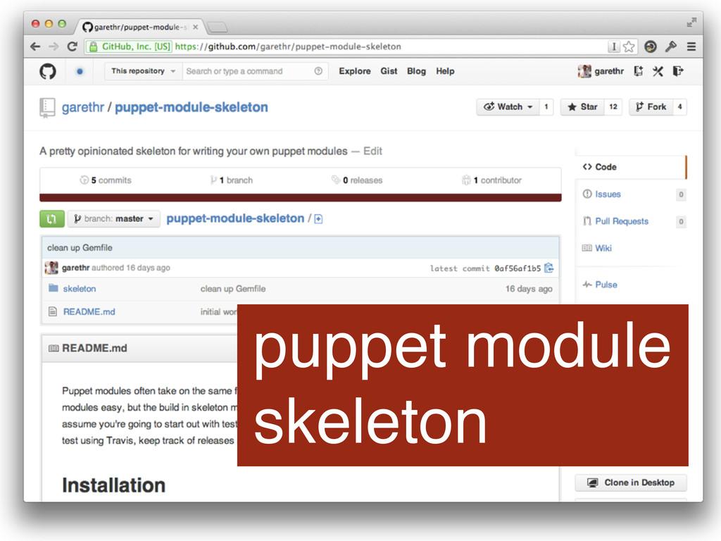 puppet module skeleton