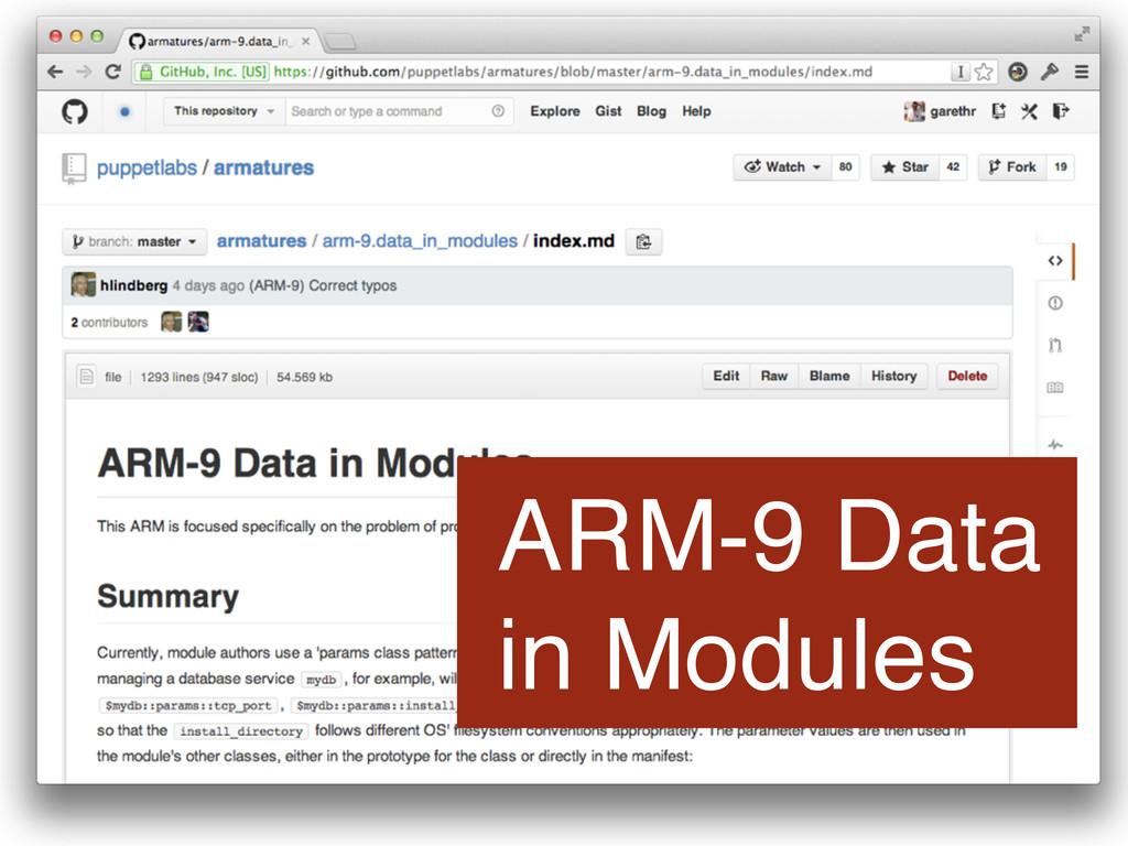 ARM-9 Data in Modules