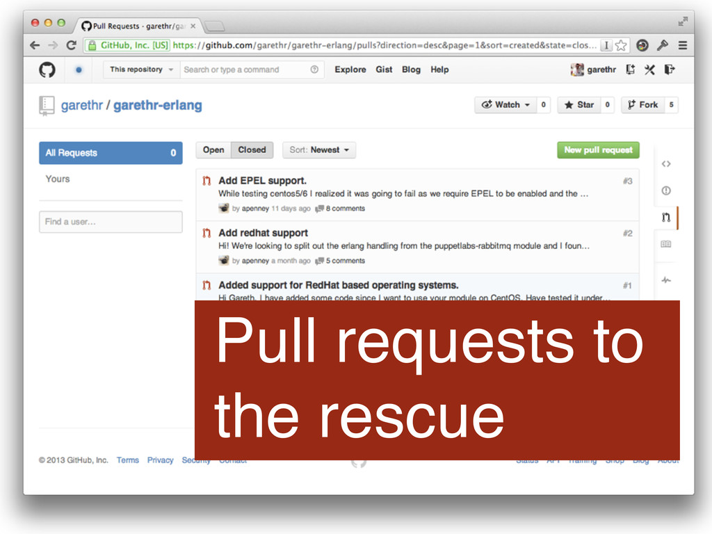 Pull requests to the rescue