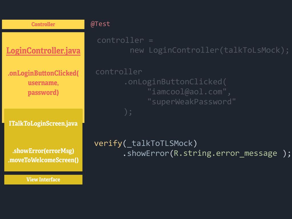 LoginController.java .onLoginButtonClicked( use...