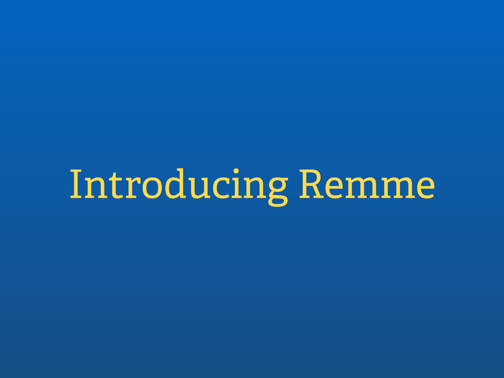 Introducing Remme