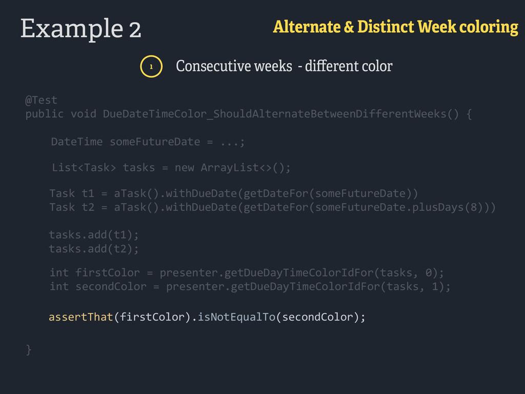 Example 2 Alternate & Distinct Week coloring 1 ...