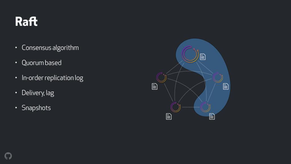 Raft • Consensus algorithm • Quorum based • In-...