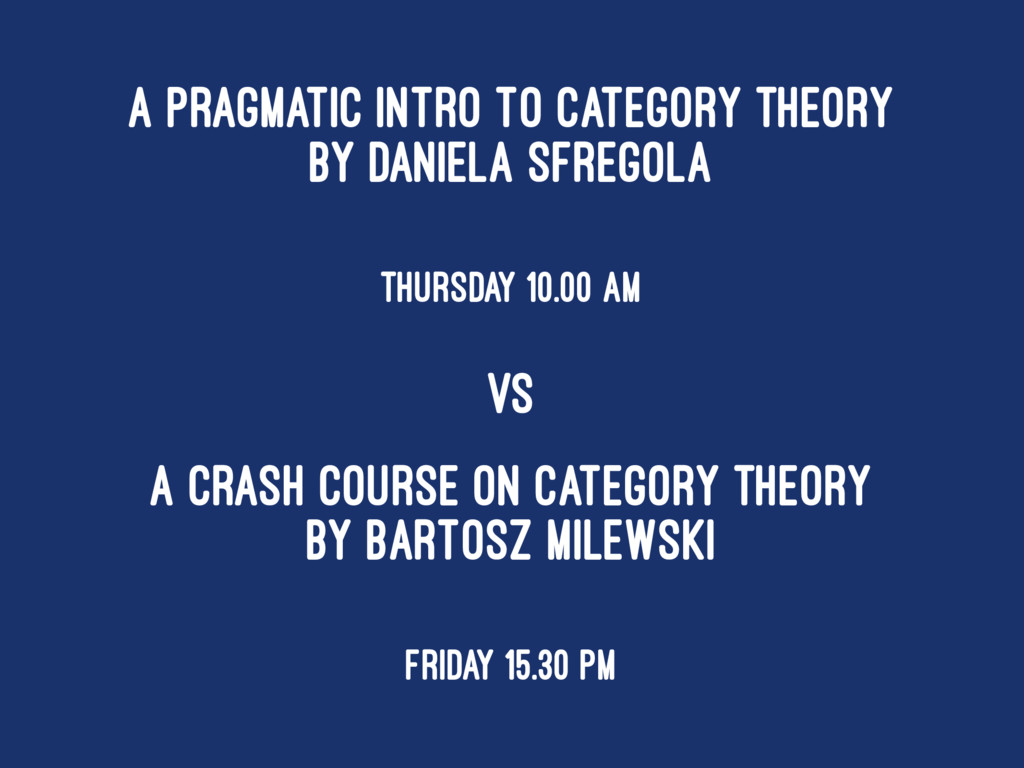 A Pragmatic Intro to Category Theory by Daniela...