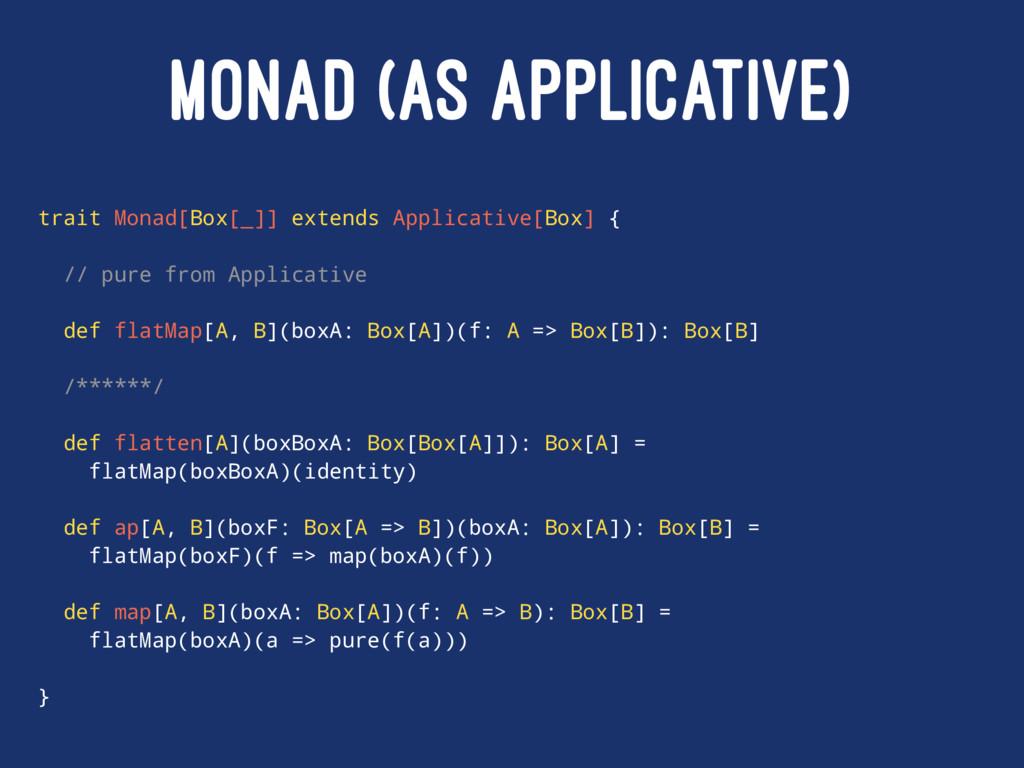 MONAD (AS APPLICATIVE) trait Monad[Box[_]] exte...