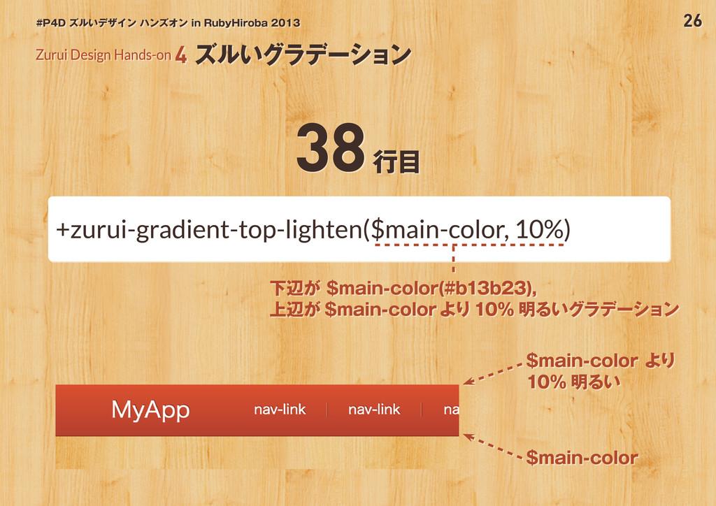 26 #P4D ズルいデザイン ハンズオン in RubyHiroba 2013 Zurui ...