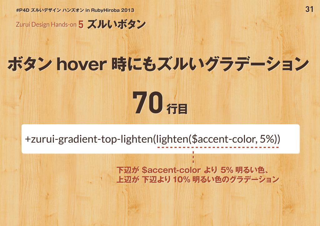 31 #P4D ズルいデザイン ハンズオン in RubyHiroba 2013 ボタン ho...