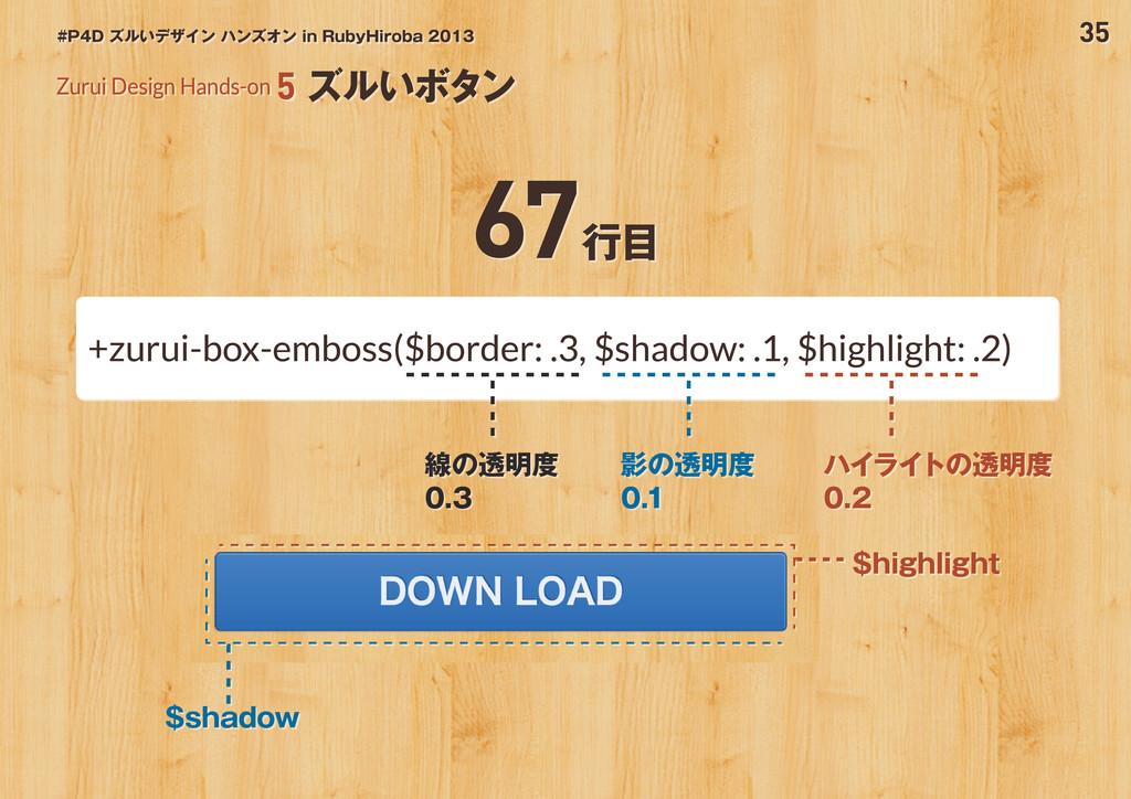 35 #P4D ズルいデザイン ハンズオン in RubyHiroba 2013 Zurui ...
