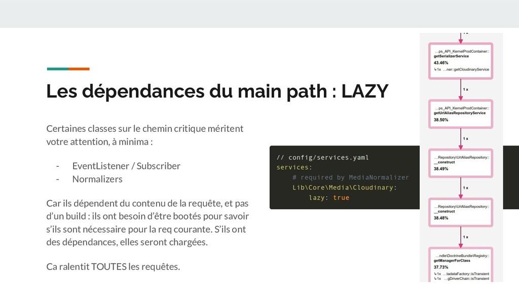 Les dépendances du main path : LAZY Certaines c...