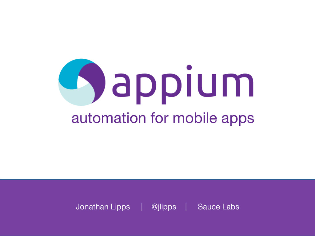 automation for mobile apps
