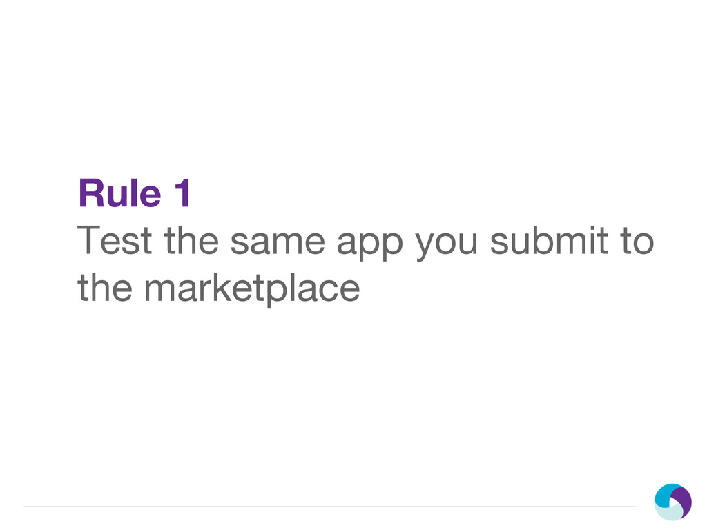 Rule 1 