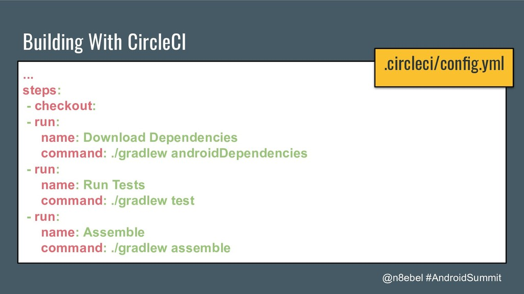@n8ebel #AndroidSummit Building With CircleCI ....