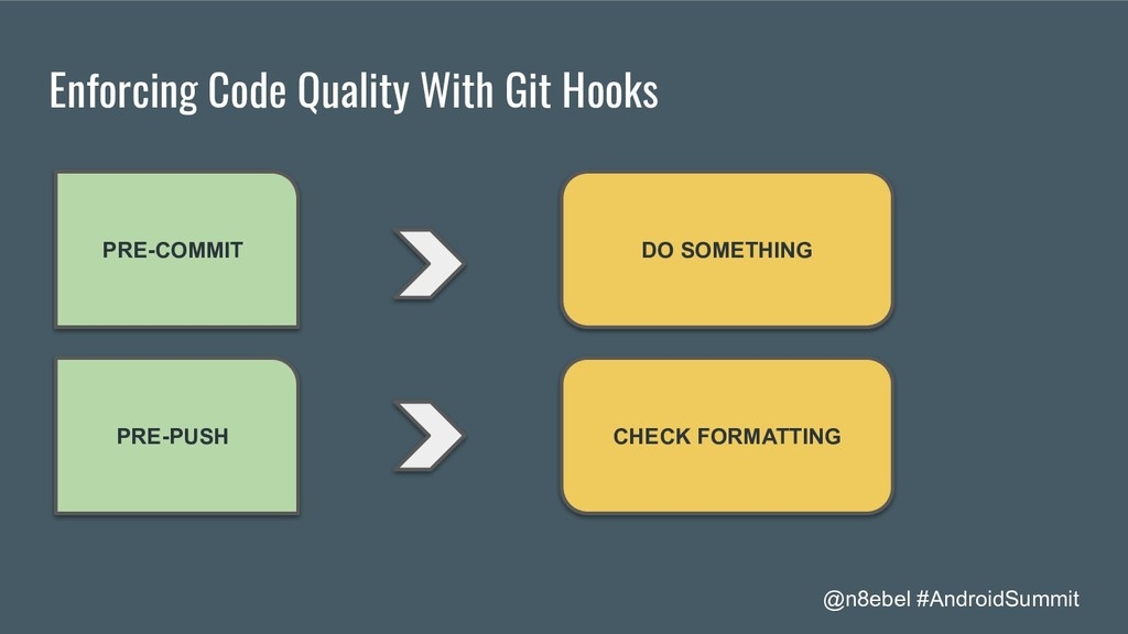 @n8ebel #AndroidSummit Enforcing Code Quality W...