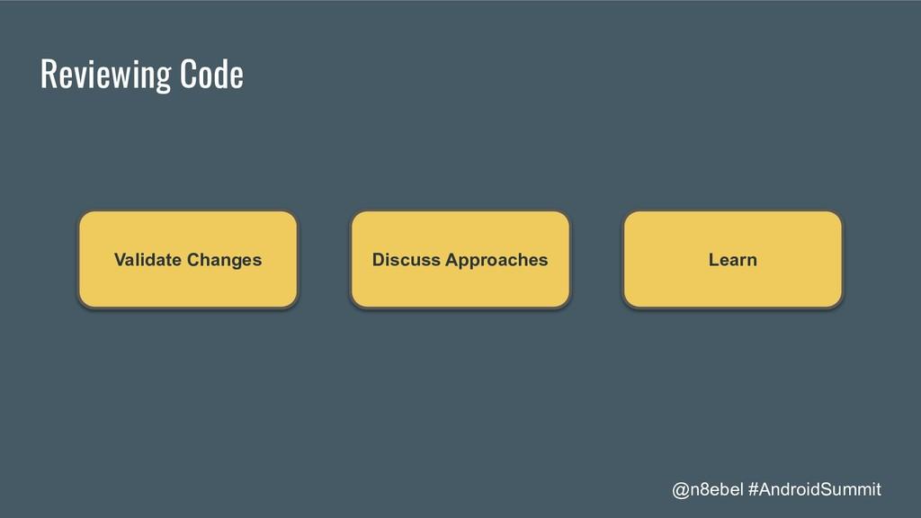 @n8ebel #AndroidSummit Reviewing Code Validate ...