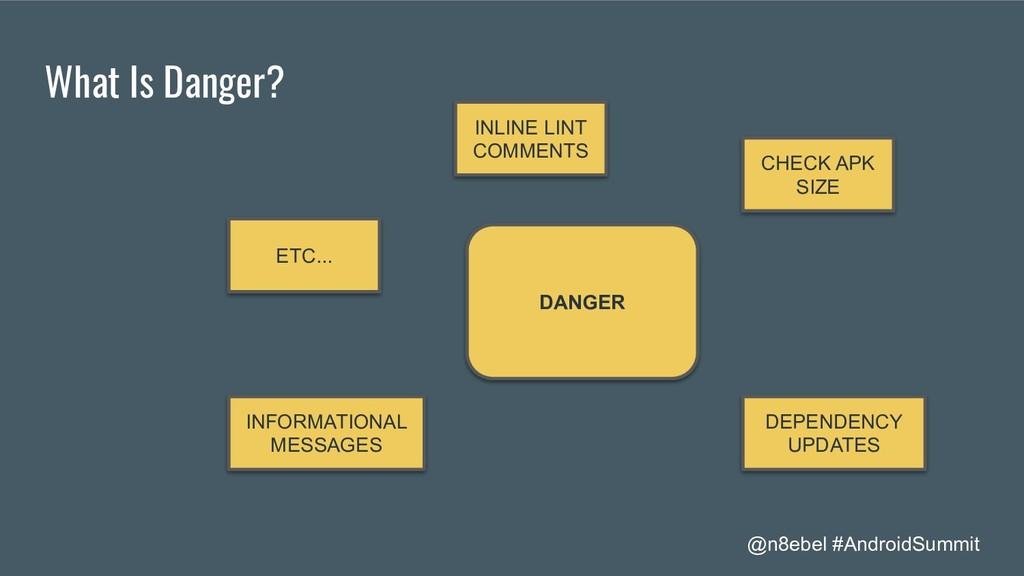 @n8ebel #AndroidSummit What Is Danger? DANGER C...