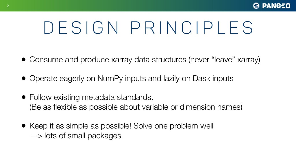 • Consume and produce xarray data structures (n...