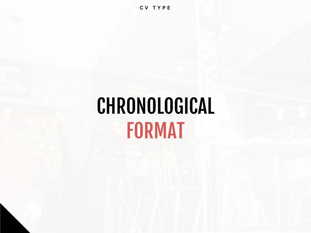 C V T Y P E CHRONOLOGICAL   FORMAT