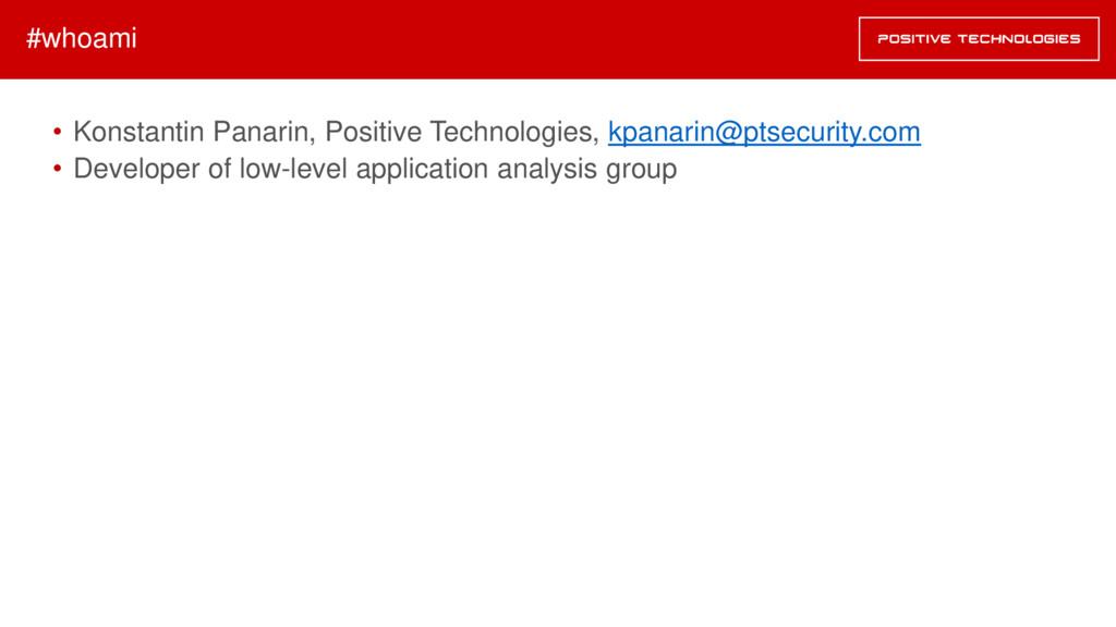 • Konstantin Panarin, Positive Technologies, kp...