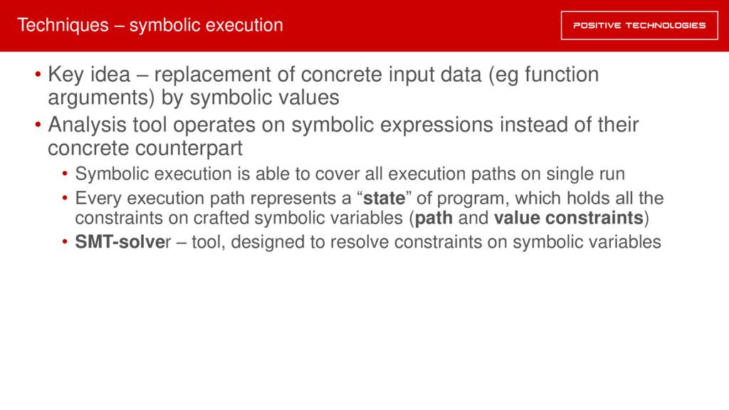 • Key idea – replacement of concrete input data...