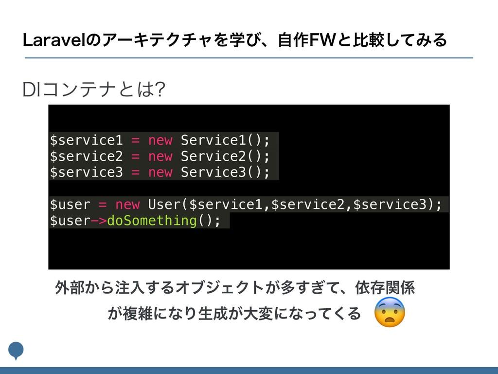 %*ίϯςφͱ $service1 = new Service1(); $service2 ...