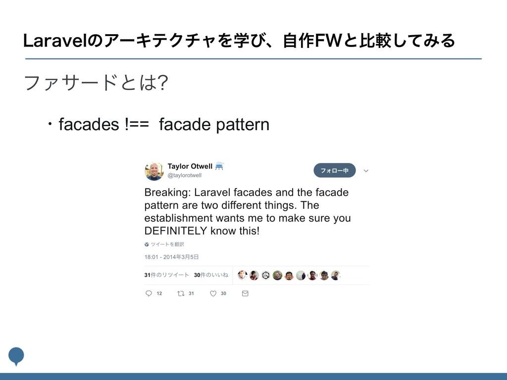 ϑΝαʔυͱ ɾfacades !== facade pattern -BSBWFMͷΞʔΩ...