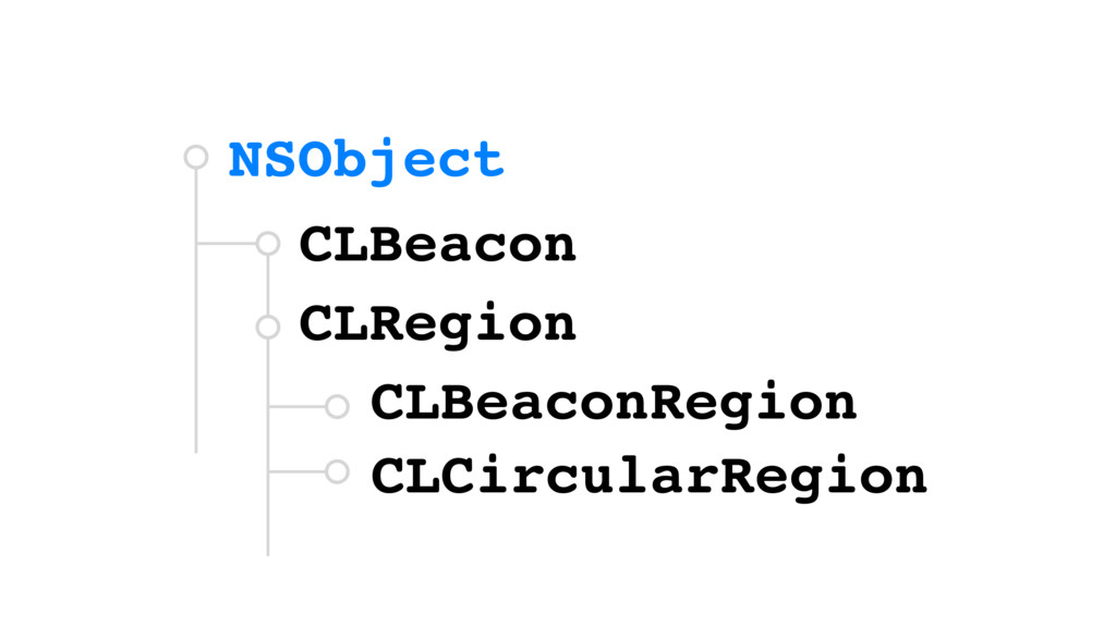 NSObject CLBeacon CLRegion CLBeaconRegion CLCir...