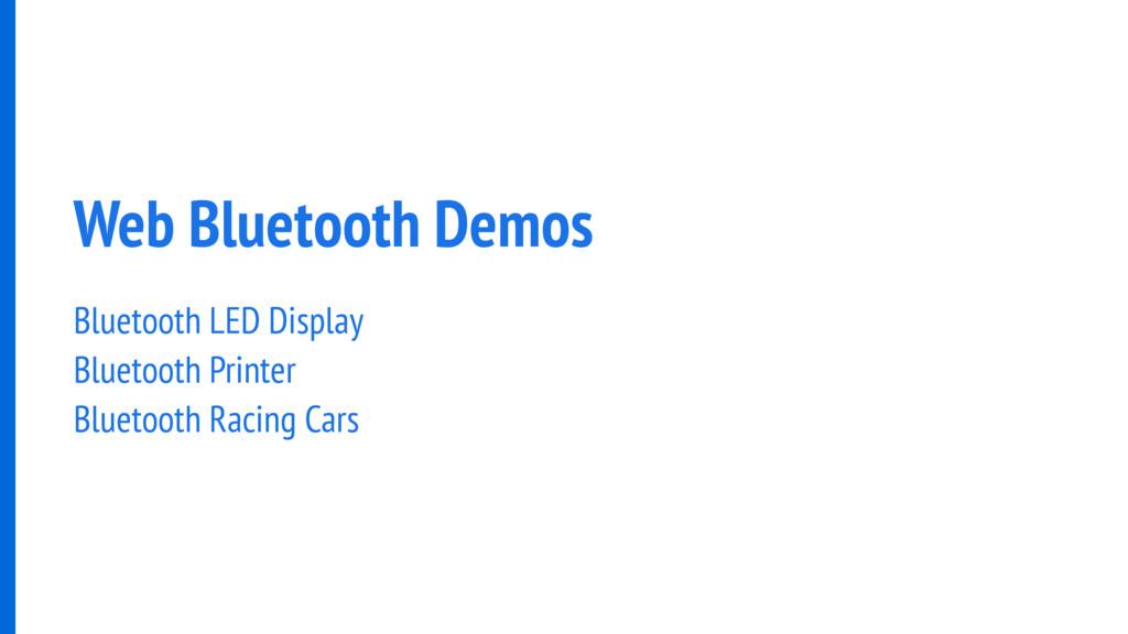 Web Bluetooth Demos Bluetooth LED Display Bluet...