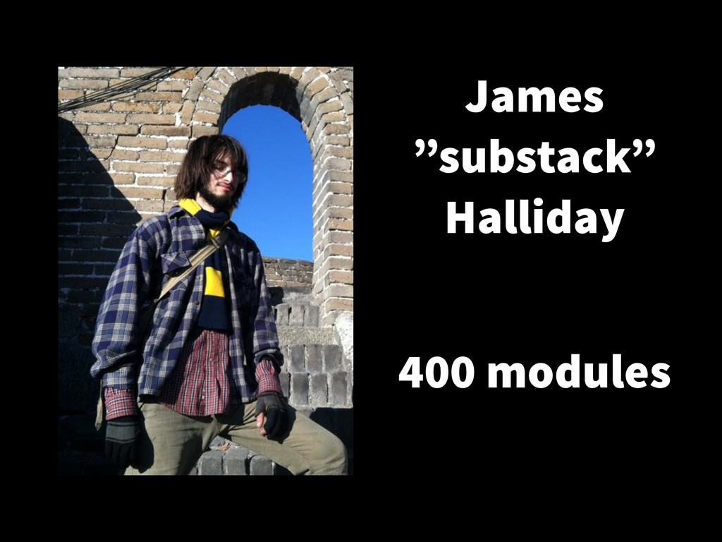 "James ""substack"" Halliday 400 modules"