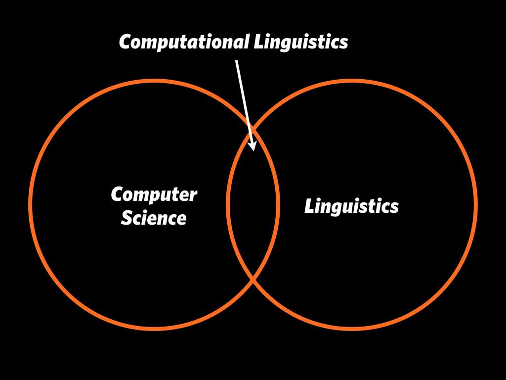 Linguistics Computer Science Computational Ling...