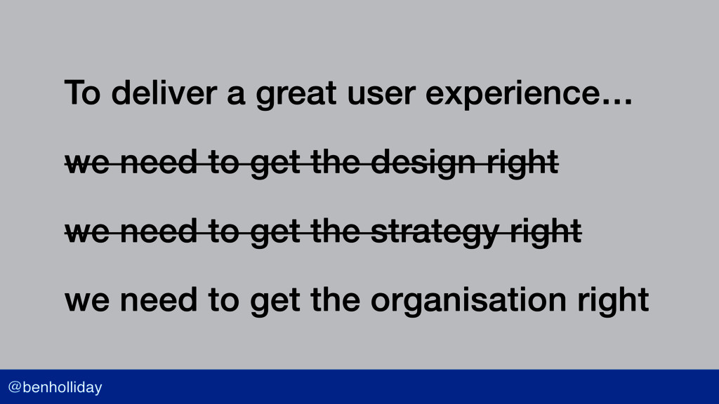 @benholliday To deliver a great user experience...