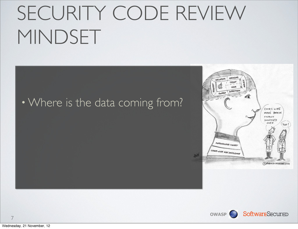 Softwar S cur OWASP SECURITY CODE REVIEW MINDSE...