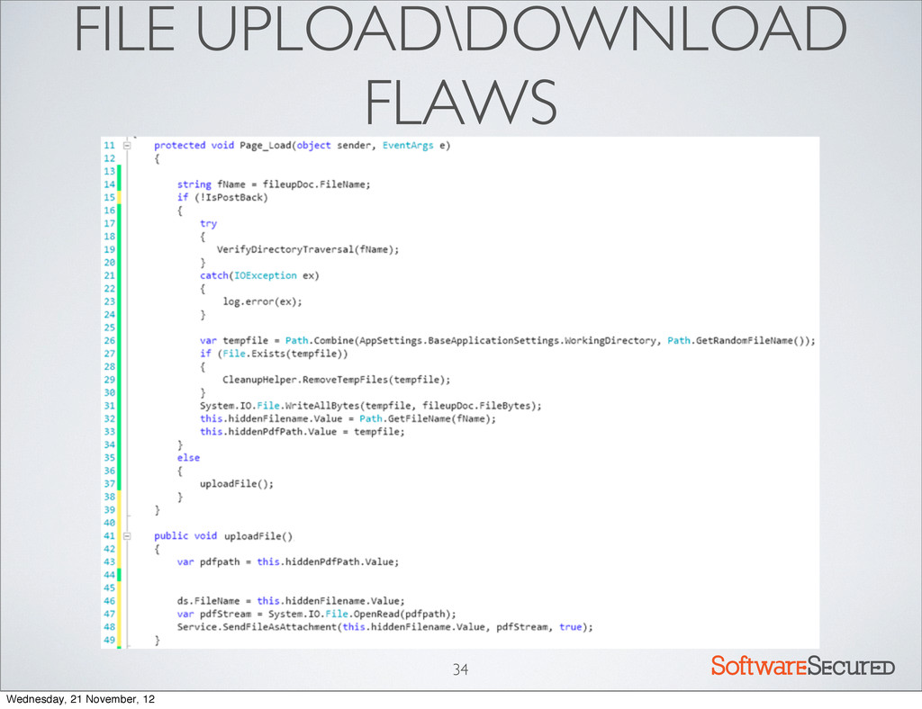 Softwar S cur FILE UPLOAD\DOWNLOAD FLAWS 34 Wed...