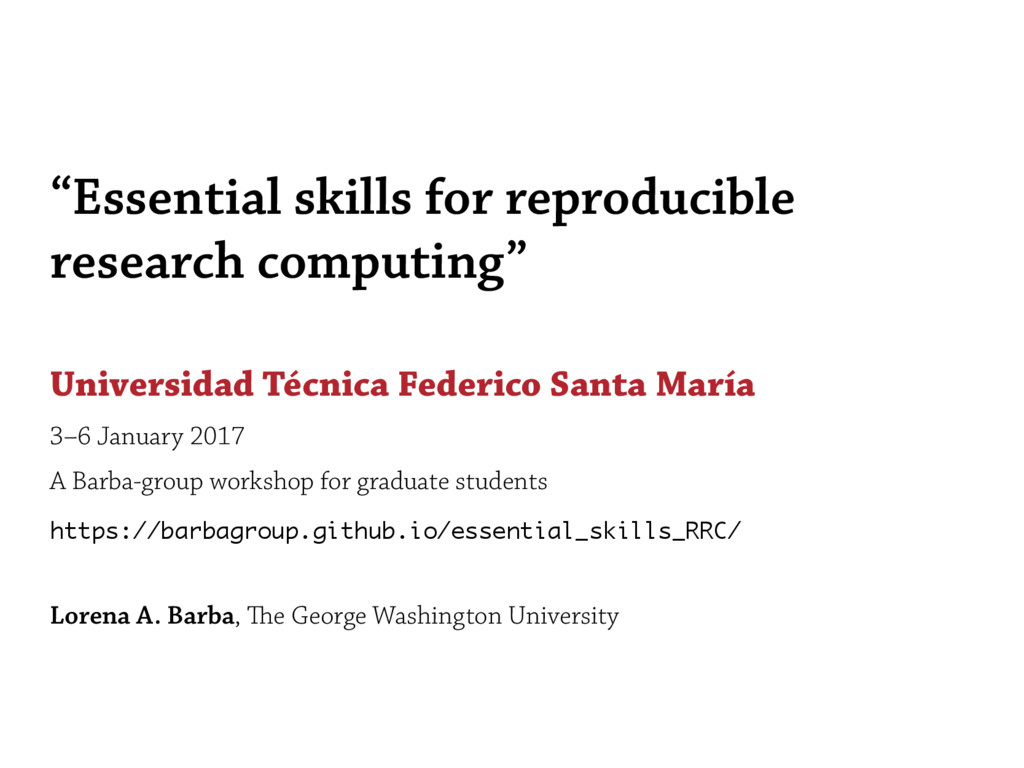 """Essential skills for reproducible research com..."