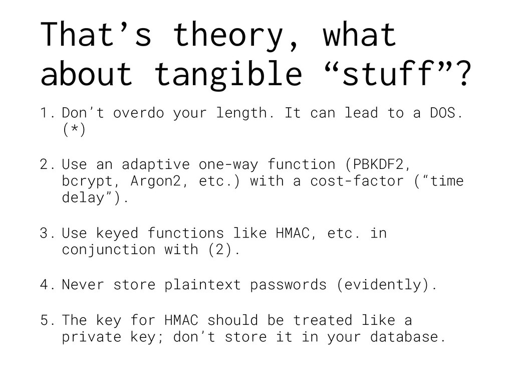 "That's theory, what about tangible ""stuff""? 1. ..."