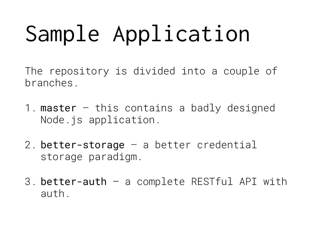 Sample Application The repository is divided in...